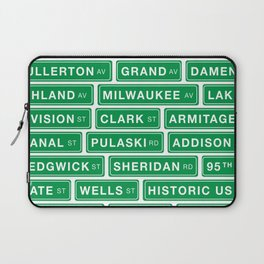 Famous Chicago Streets // Chicago Street Signs Laptop Sleeve