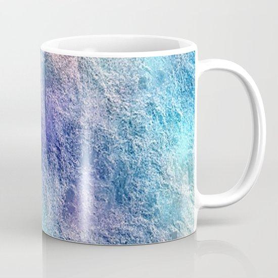 Colorful Cool Tones Blue Purple Abstract Mug