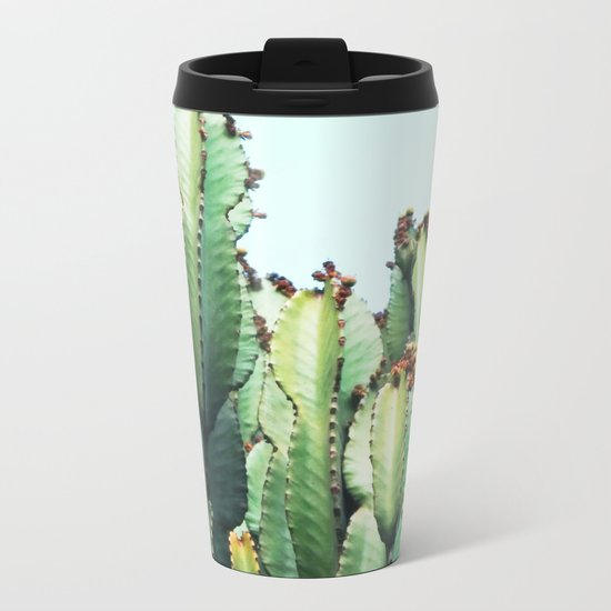 Cactus Love #society6 #decor #buyart Metal Travel Mug