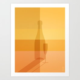ELIXIRS / Champagne Art Print