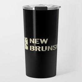Canadian Flag: New Brunswick Travel Mug