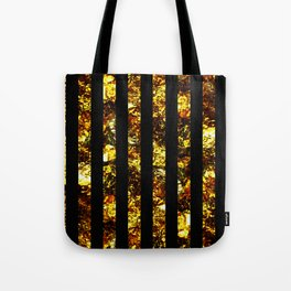 Golden Stripes - Abstract, black and gold, metallic, textured, stripy pattern Tote Bag