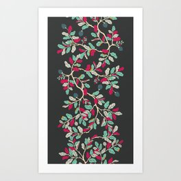 Minty Pinky Branches Art Print