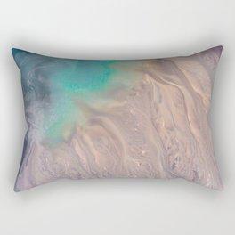 The abstract swirl of beach life Rectangular Pillow