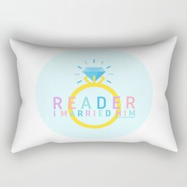 Jane Eyre - Reader, I Married Him Rectangular Pillow