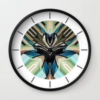 mask Wall Clocks featuring Mask by David Lee