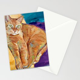 Contemplative Kitty Stationery Cards