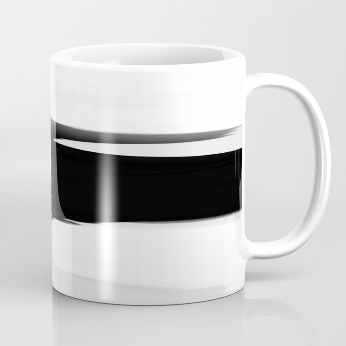 Soft Determination Black & White Coffee Mug