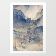Tulle Mountains Art Print