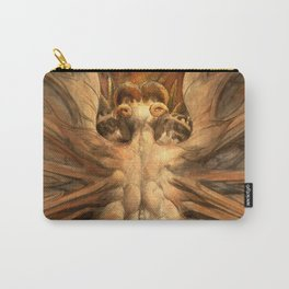 """William Blake """"The Great Red Dragon and the Woman Clothed in Sun"""" Carry-All Pouch"""