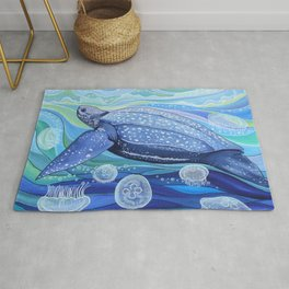 Leatherback Sea Turtle Rug