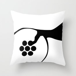 Abstract Plughole Throw Pillow