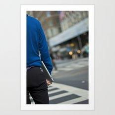 iPad Blue Art Print