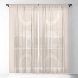 Moon Minimalism - Ethereal Light Sheer Curtain