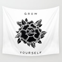 black rose/grow yourself Wall Tapestry