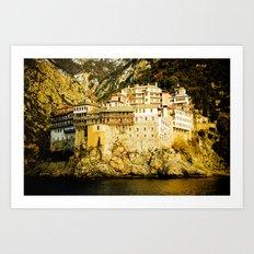 Grigoriou Monastery, Mount Athos, Greece Art Print