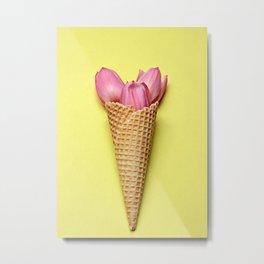Tulip in a Cone Metal Print