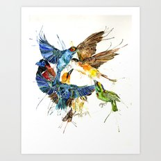 Birds Galore Art Print