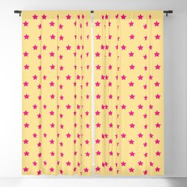Abe | Yellow and Pink Stars Blackout Curtain