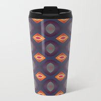 70's Geometric 2 Metal Travel Mug