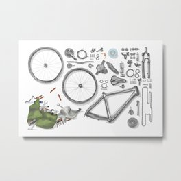 a bike's flatlay Metal Print