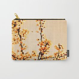 SPRING BLOSSOMS IN ORANGE Carry-All Pouch