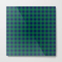 Plaid (blue/green) Metal Print