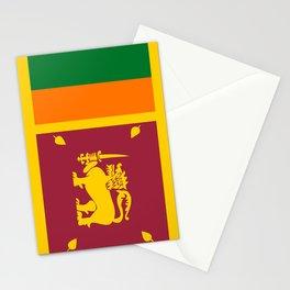 Sri Lanka country flag Stationery Cards