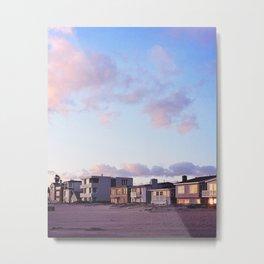 Midcentury Style Homes along the Beach, Sunset Beach, California Metal Print