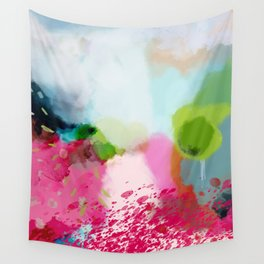 pink landscape Wall Tapestry