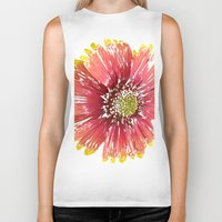 blanket Biker Tanks featuring Blanket Flower by Regan's World