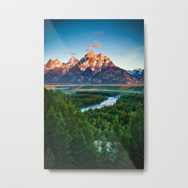 Snake River and the Grand Titan Mountains Metal Print
