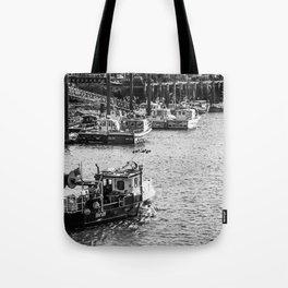 Whitby fishing boat Tote Bag