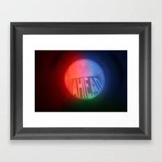 Ahead Framed Art Print