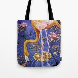 Flamingo oil painting  Tote Bag
