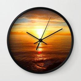 Sun Line Wall Clock