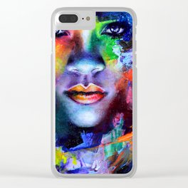 Rihanna Colors Clear iPhone Case
