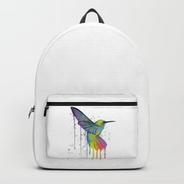 Hummingbird Watercolor Backpack