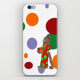 Monkey and Dots iPhone Skin