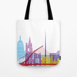 Dublin skyline pop Tote Bag