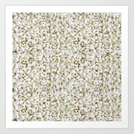 Rice pattern Art Print