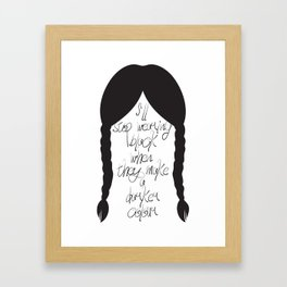 Wednesday Addams Framed Art Print