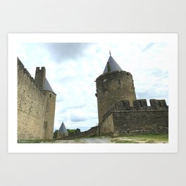 Curtain walls of the City of Carcassonne Art Print