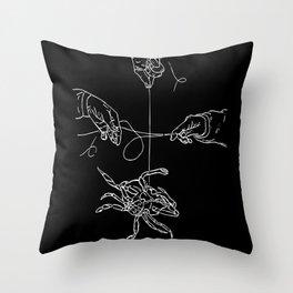 Crabby Fish Hands Throw Pillow