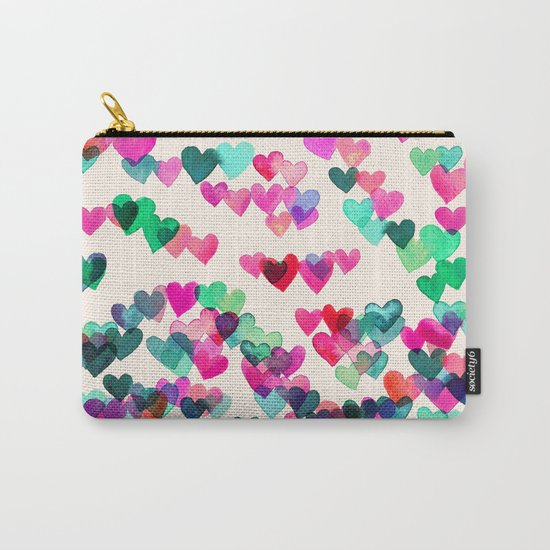Heart Connections II - watercolor painting (color variation) Carry-All Pouch