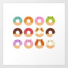 Happy Doughnuts Art Print
