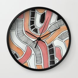 graphic snakes Wall Clock