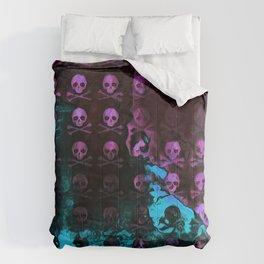 Deaths Frozen Blanket Skulls: Pink And Blue Comforters