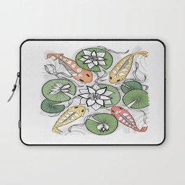 Koi Reunion - Zentangle Illustration Laptop Sleeve