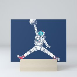 Space dunk Mini Art Print